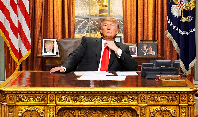 Trump at his desk
