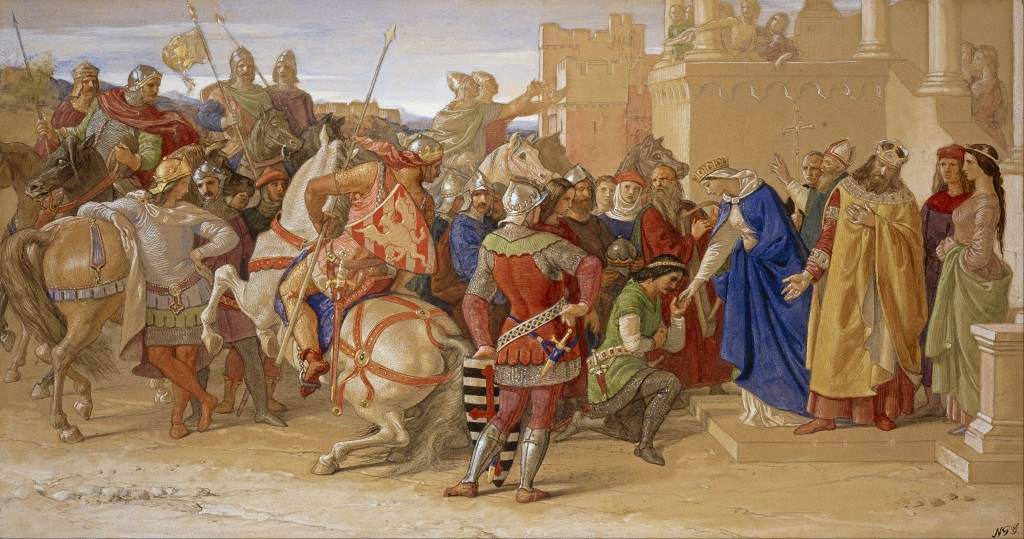 William_Dyce_-_Piety-_The_Knights_of_the_Round_Table_about_to_Depart_in_Quest_of_the_Holy_Grail_-_Google_Art_Project