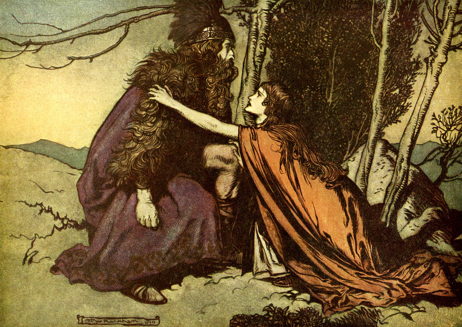 arthur-rackham_the-ring-of-the-niblung_the-valkyrie_06