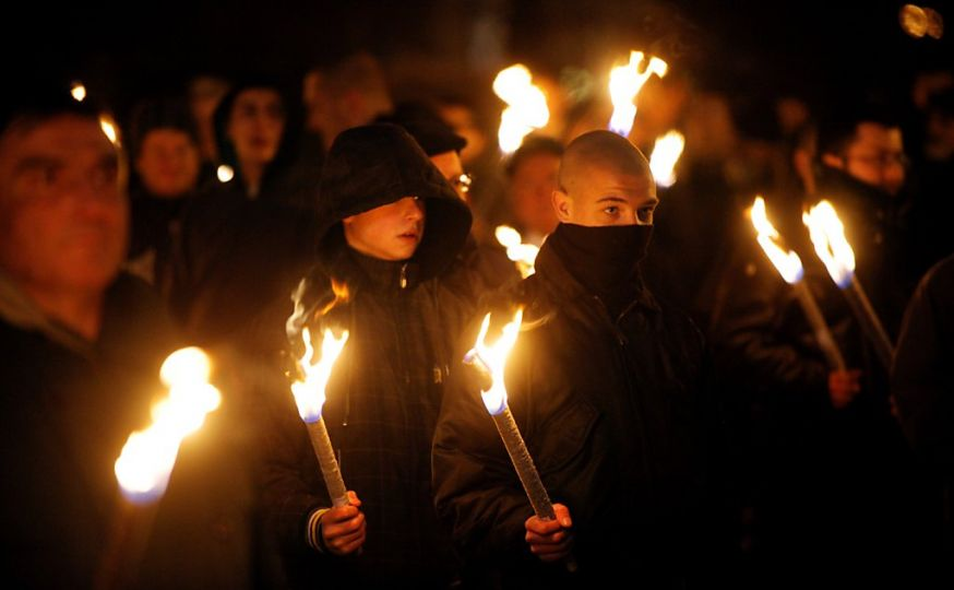nationalists torch march
