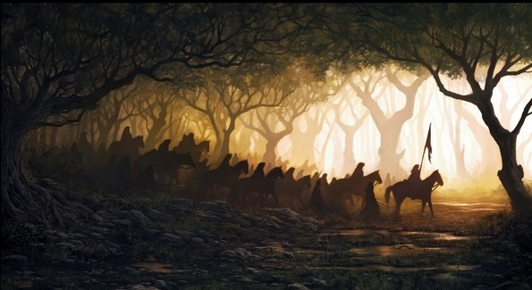painting forest horses